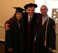 Gabriel Finder with Amira Beeber and Stephen Duffy at Graduation